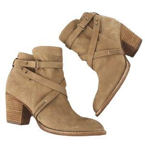 Sam Edelman Merton 8.5M/38.5 Tan Suede Ankle Boots